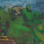 Alenka Vogelnik SLIKARJI POD PLANINO 1975, olje, platno, 67 x 90 cm