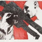 Dušan Kirbiš LEPI ZOBJE 1982, grafika, papir, 50 x 64 cm
