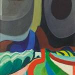 Franc Novinc POKRAJINA 1969, akril, platno, 70 x 60 cm