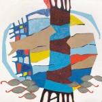 Goce Kalajdžiski RIBNIK 2000, olje, platno, 80 x 90 cm