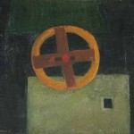 Ida Brišnik Remec MLINSKO KOLO 1967, olje, les, 56 x 64,5 cm