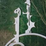 Irena Brunec KRALJ IN KRALJICA 1991, æelezo, skulptura