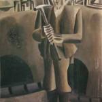 Ive Šubic RUDAR 1966, olje, les, 98,5 x 68,5 cm