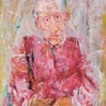 Jurij Kalan STARČEK 1991, olje, platno, 62 x 51 cm