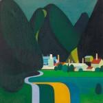 Kamilo Legat TOVARNA (ETI) 1969, olje, platno, 70 x 65 cm