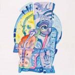 Klavdij Tutta Iz cikla GLAVE I. 1992, akvarel, papir, 54 x 41 cm