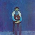 Leopold Hooeevar UPOKOJENEC 1965, olje, platno, 80 x 50 cm