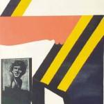 Lojze Logar FIGURA X 1970, sitotisk, papir, 90 x 50 cm