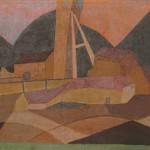 Marjan Dovjak JAŠEK IN RUDAR 1969, olje, platno, 71 x 124 cm