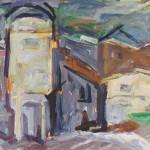 Marjan Gumilar SEPARACIJA 1987, olje, platno, 80 x 100 cm