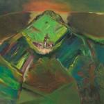 Martin Bizjak CERKVICA NA HRIBU 2000, akril, platno, 80 x 100 cm