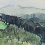 Martina Koritnik Fajt GOZD 1985, akvarel, papir, 31 x 46 cm