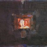 Nikolaj Beer VEČER 1976, kolaž, platno, 110 x 130 cm