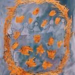 Pippo Altomare CORONA 1998, akril, platno, 90 x 70 cm