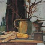 Rudi Gaberc TIHOŽITJE 1975, olje, platno, 50 x 65 cm