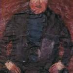 Savo Sovre MOŽAKAR 1966, olje, papir, 39 x 27 cm
