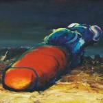 Tomasz Awdziejczyk HROŠČ 1989, olje, platno, 42 x 57 cm