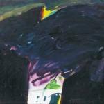 Veljko Toman MEDIJSKE TOPLICE 1994, akril, platno, 80 x 100 cm