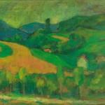 Vilim Sveoenjak PODLIPOVICA 1965, olje, platno, 48 x 64 cm