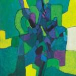 Vinko Tušek ZELENI DAN 1993, akril, platno, 100 x 120 cm