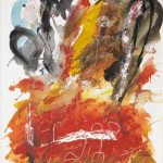 Vojko Pogačar MALI NOTRANJI PEJSAŽ 1997, akril, platno, 70 x 50,5 cm