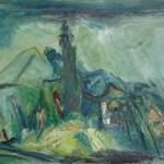 Zdenko Huzjan ŠENTGOTARD 1985, olje, platno, 63 x 80 cm