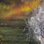 Zmago Jeraj KORENINE 1977, akril, platno, 100 x 100 cm